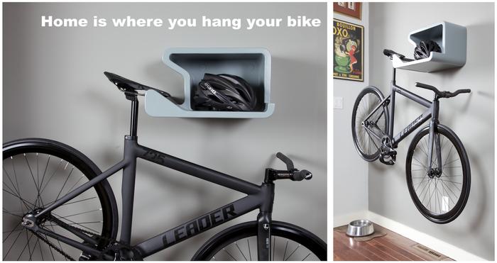 Shelfie Arrume a Bicicleta na Parede de Sua Casa