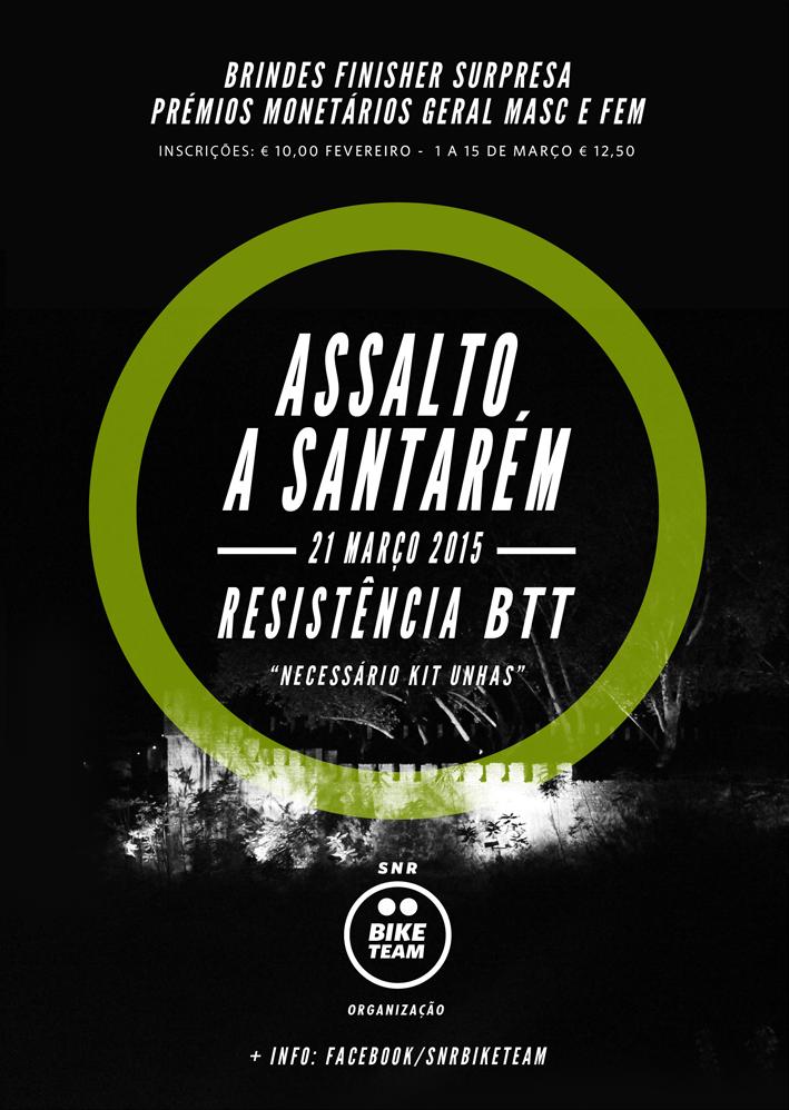 Assalto a Santarém - Resistência BTT Cartaz