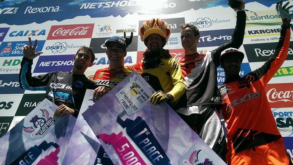 Santos City Downhill World Tour Podium Top 3