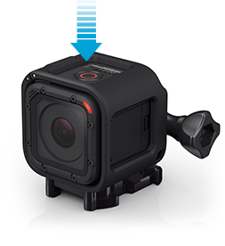 GoPro Hero4 Session button