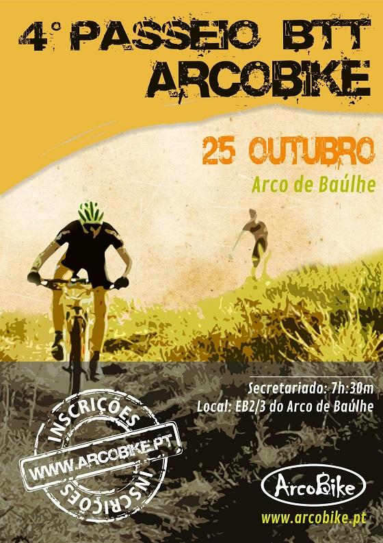 4º Passeio BTT ArcoBike cartaz