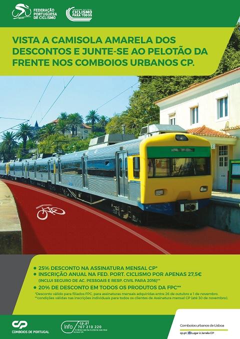 Federacao portuguesa de ciclismo e CP promovem prática do ciclismo
