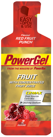 PowerBar PowerGel Fruit red fruit punch